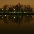 Charles River At Night by Jack Foley