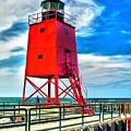 Charlevoix South Pier Light by Nick Zelinsky