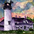 Chatham Lighthouse Martha's Vineyard Massachuestts Cape Cod Art by Derek Mccrea