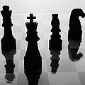 Chess Board And Pieces by Jon Schulte