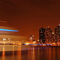 Chicago At Night by Evia Nugrahani Koos