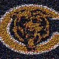 Chicago Bears Bottle Cap Mosaic by Paul Van Scott