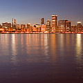Chicago Dusk Skyline Panoramic  by Sven Brogren