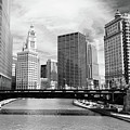 Chicago River Buildings Skyline by Paul Velgos