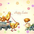 Chicks And Eggs - Happy Easter by Joyce Dickens