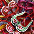 Chinese Baby Shoes by Michele Burgess