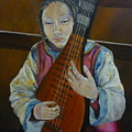 Chinese Lute Player by Barbi Vandewalle