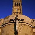 Christ On The Cross Outside The Nortre Dame De La Garde by Sami Sarkis