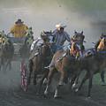 Chuckwagon Racing by Jack Dagley