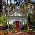 Church In Spring by David Lee Thompson