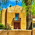 Church With Blue Door by Jeffrey Kolker