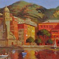 Cinqua Terra Italian Fishing Village by David Olander
