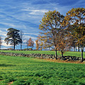 Cirrus Clouds Over Farm Fields by John Burk