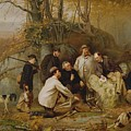 Claiming The Shot - After The Hunt In The Adirondacks by John George Brown