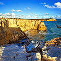 Cliffs Of Cabo Rojo At Sunset by George Oze
