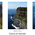 Cliffs Of Moher Ireland Triptych by Teresa Mucha