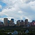 Cloudy Skyline Edmonton by David Kleinsasser
