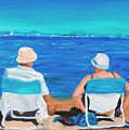 Clyde And Elma At The Beach by Michael Lee