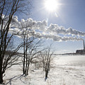 Coal Fired Power Plant In Winter by Skip Brown
