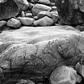 Coastal Granite In Black And White by David Thompson