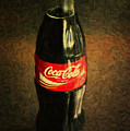 Coke Bottle by Wingsdomain Art and Photography