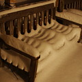 Cold Bench In The Snow by Alice Markham