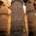 Colonnade In The Karnak Temple Complex At Luxor by Sami Sarkis