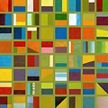 Color Study Collage 64 by Michelle Calkins