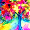 Colorful Tree by Maritza Bermudez