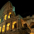 Colosseum At Night by Nancy Morgantini