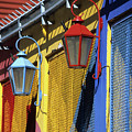 Colourful Lamps La Boca Buenos Aires by James Brunker