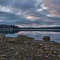 Columbia Lake Sunset by Edward Sobuta