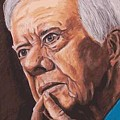 Contemplation - Jimmy Carter by Kenneth Kelsoe