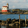 Coquille River Lighthouse Bandon Oregon by Renee Hong