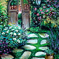 Cottage Gates by Elizabeth Robinette Tyndall