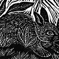 Cottontail Block Print by Ellen Miffitt