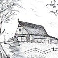 Country Barn by Barbara Cleveland
