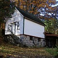 Country Cottage In Autumn by Desiree Paquette