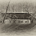 Covered Bridge In Black And White by Bill Cannon