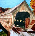 Covered Bridge Woodstock Vt by Donna Walsh