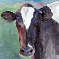 Cow Portrait by Arline Wagner