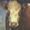 Cow Portrait II by Terri  Meyer