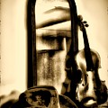 Cowboy Hat And Fiddle by Bill Cannon