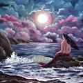 Crimson Mermaid by Laura Iverson