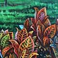 Crotons 4 by Usha Shantharam