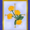 Crusader Cross And Four Gospel Roses by Anne Norskog