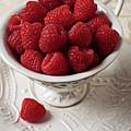 Cup Full Of Raspberries  by Garry Gay