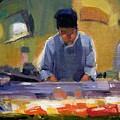 Cutting Sushi by Merle Keller