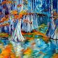 Cypress Trees Along The Bayou by Marcia Baldwin