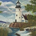 Dads Lighthouse by Darlene Green